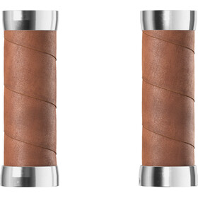 Brooks Slender Leather Grips, dark tan